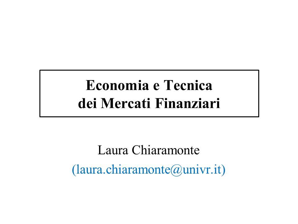 Economia e Tecnica dei Mercati Finanziari