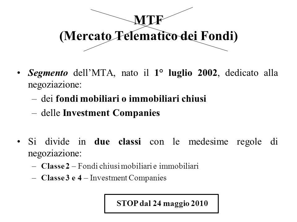 MTF (Mercato Telematico dei Fondi)