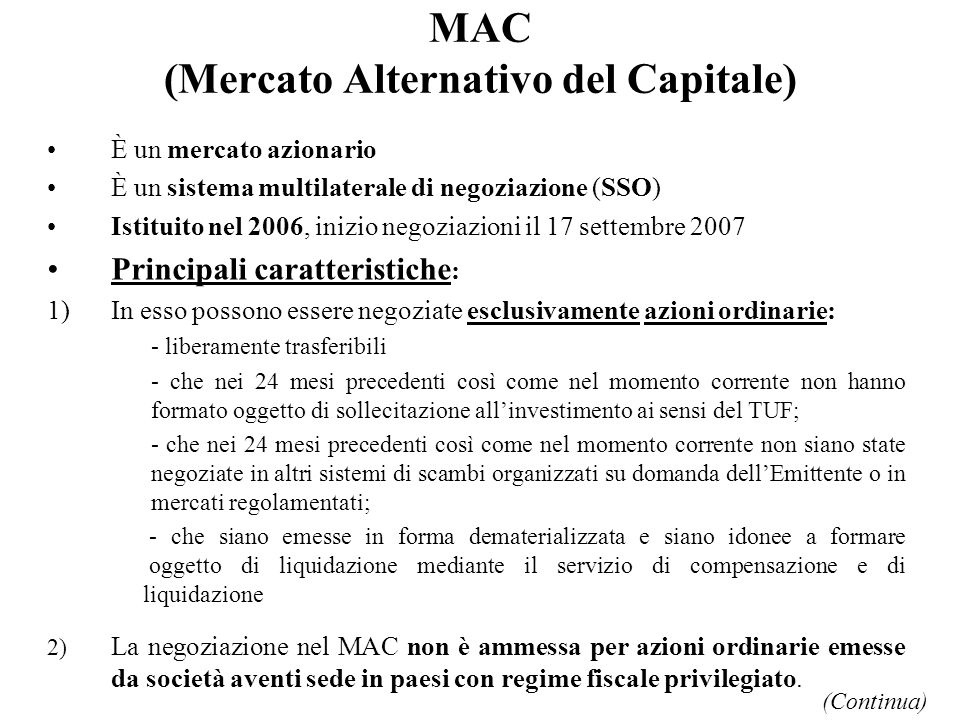 MAC (Mercato Alternativo del Capitale)