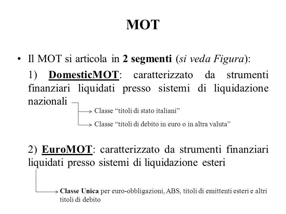 MOT Il MOT si articola in 2 segmenti (si veda Figura):