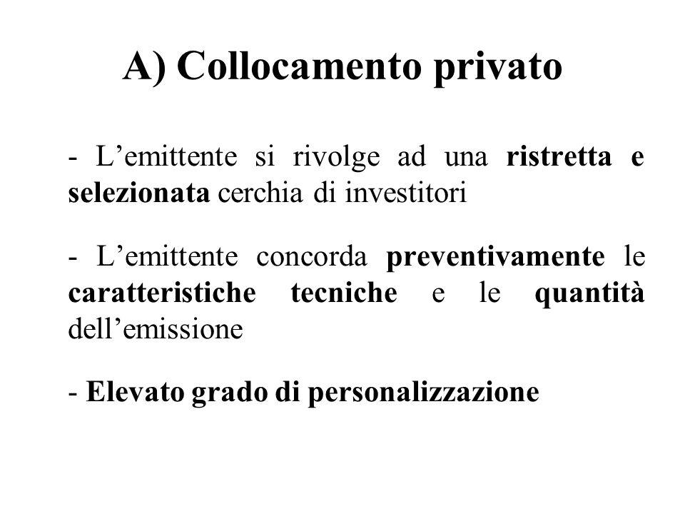A) Collocamento privato