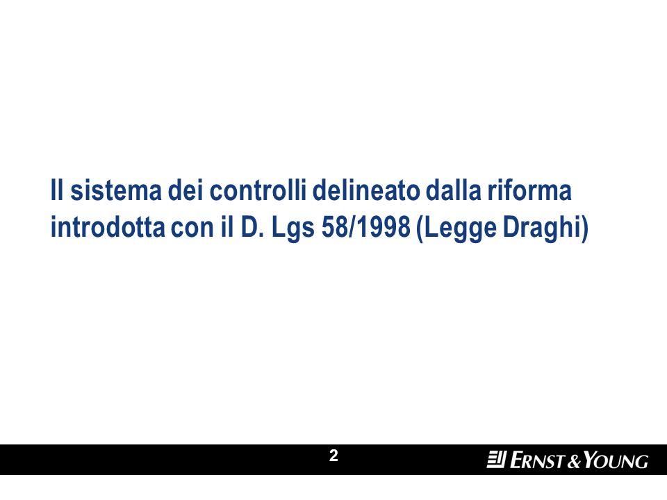 Il sistema dei controlli delineato dalla riforma introdotta con il D