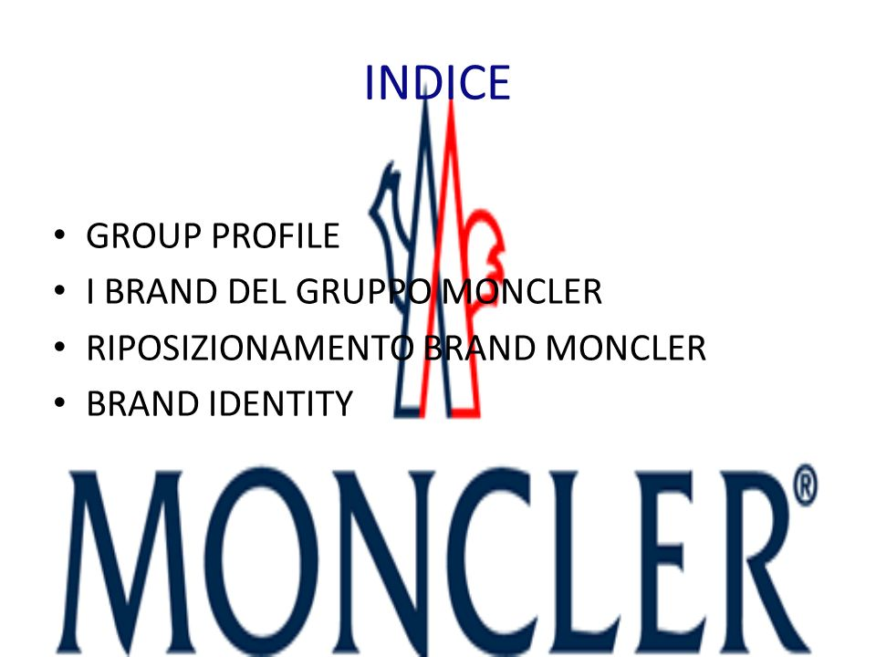 INDICE GROUP PROFILE I BRAND DEL GRUPPO MONCLER