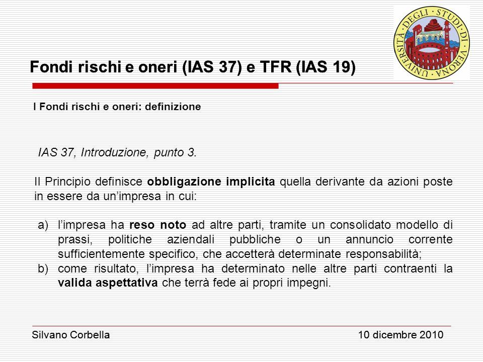 IAS 37, Introduzione, punto 3.