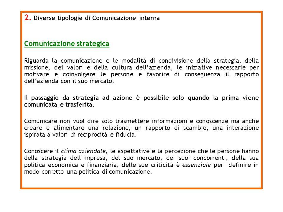 2. Diverse tipologie di Comunicazione interna