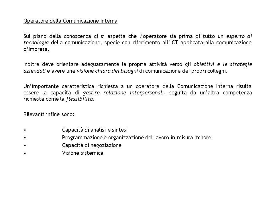 Operatore della Comunicazione Interna