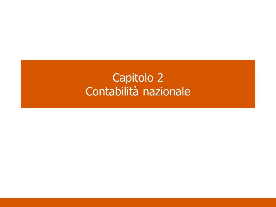Capitolo 2 Contabilità nazionale