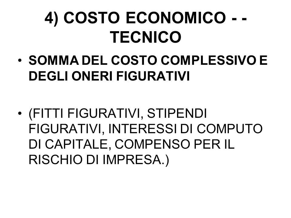 4) COSTO ECONOMICO - -TECNICO