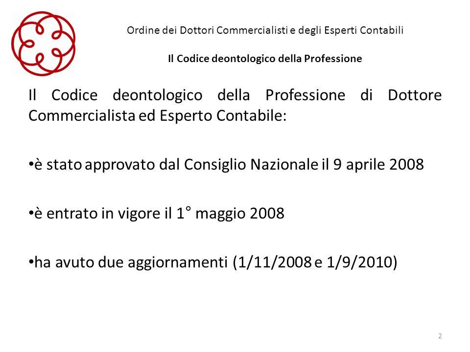 è stato approvato dal Consiglio Nazionale il 9 aprile 2008