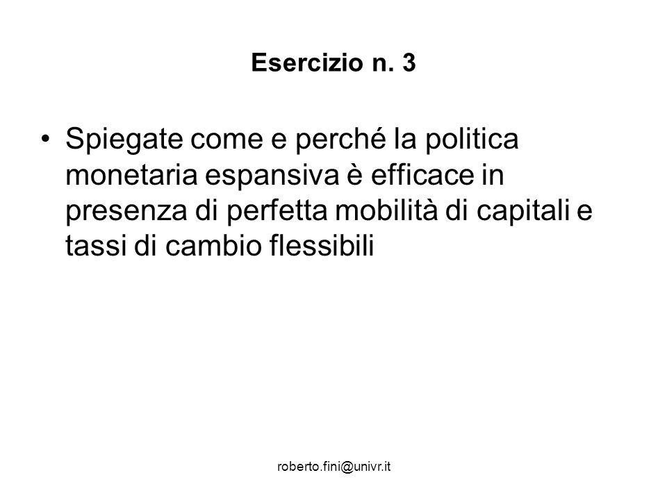 Esercizio n. 3