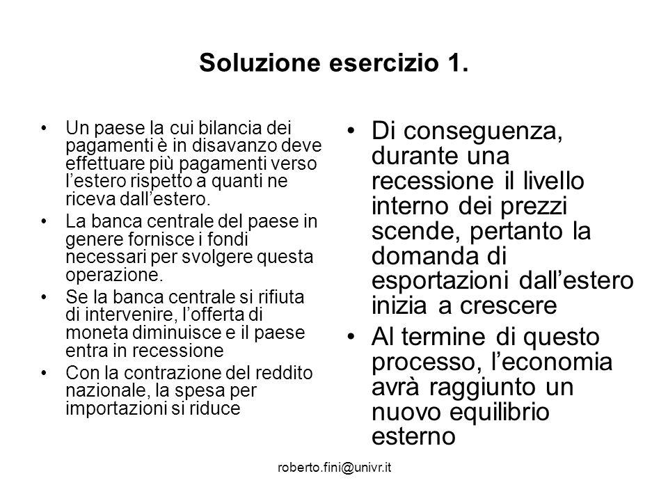 Soluzione esercizio 1.