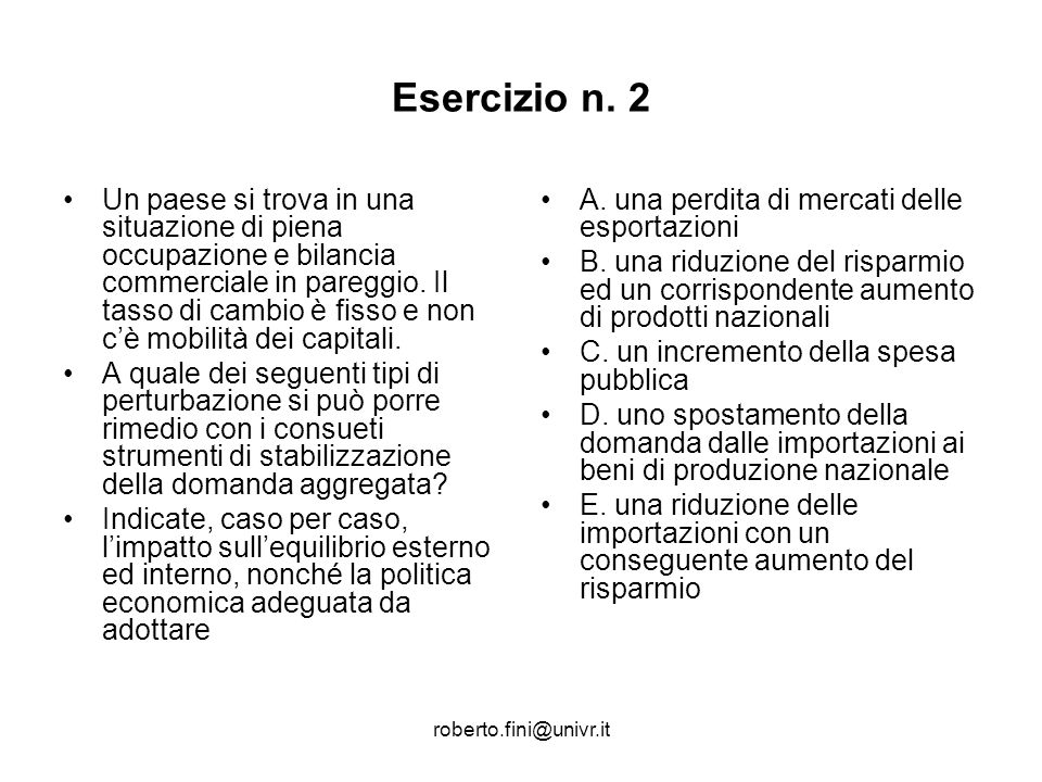 Esercizio n. 2