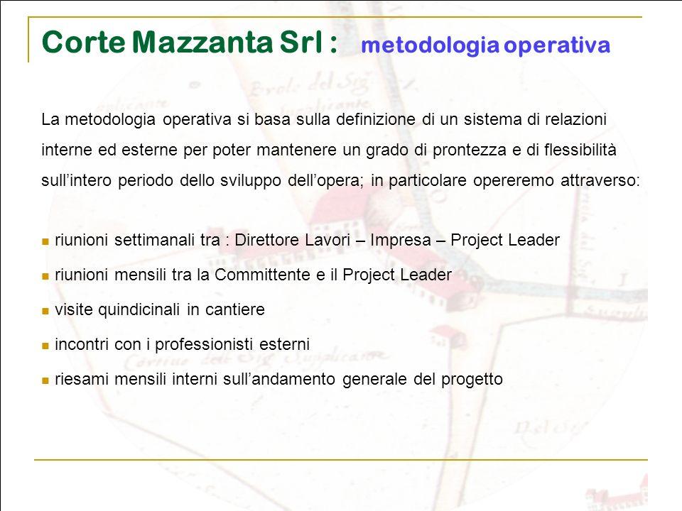 Corte Mazzanta Srl : metodologia operativa