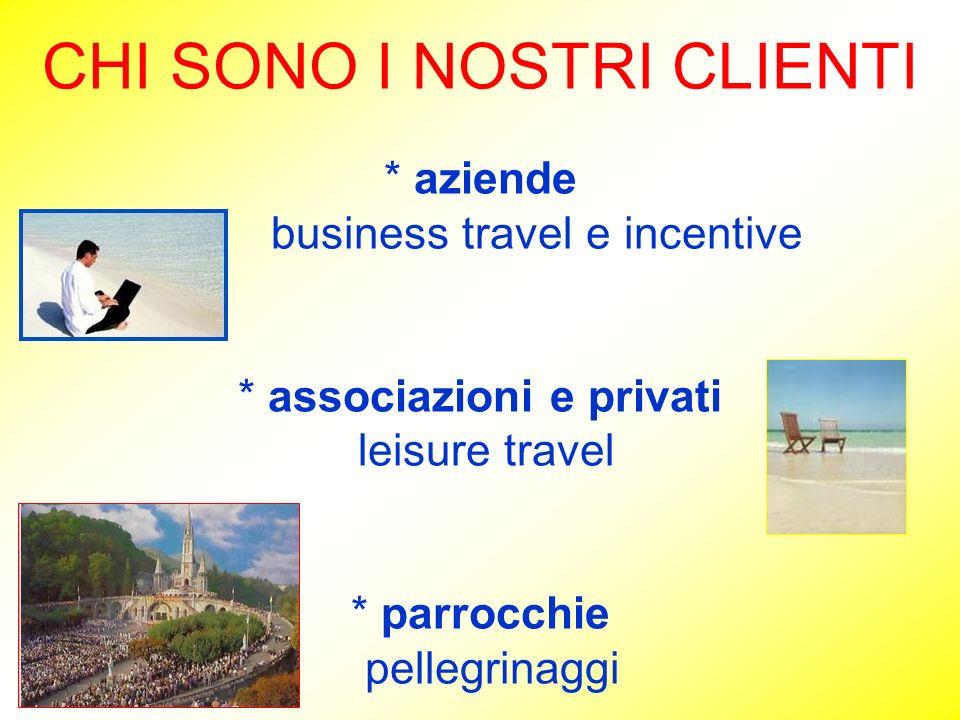 CHI SONO I NOSTRI CLIENTI. aziende business travel e incentive