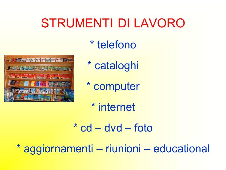 STRUMENTI DI LAVORO. telefono. cataloghi. computer. internet
