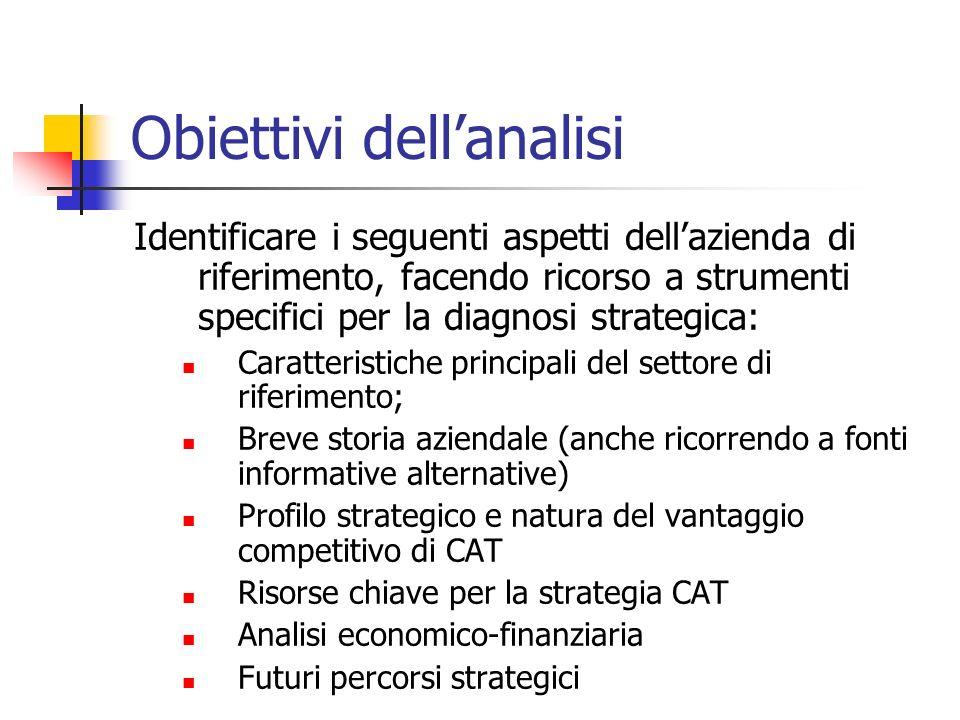 Obiettivi dell'analisi