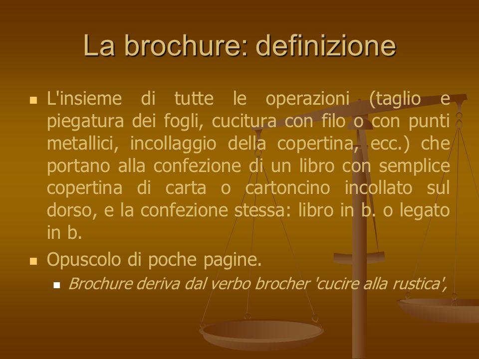 La brochure: definizione