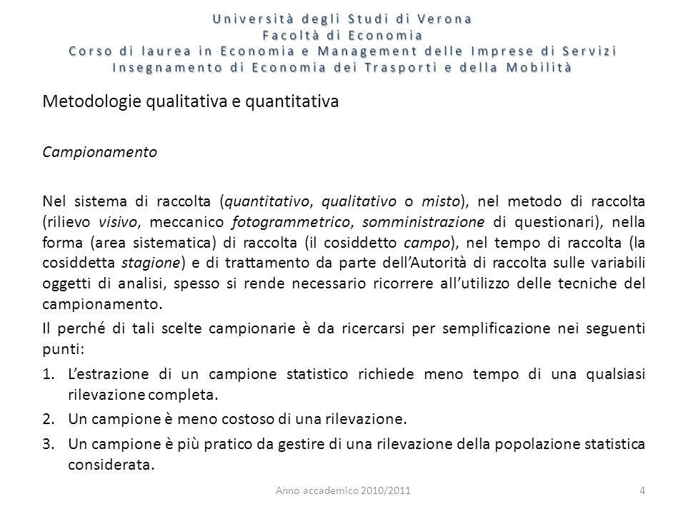 Metodologie qualitativa e quantitativa