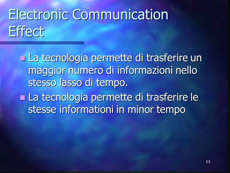 Electronic Communication Effect
