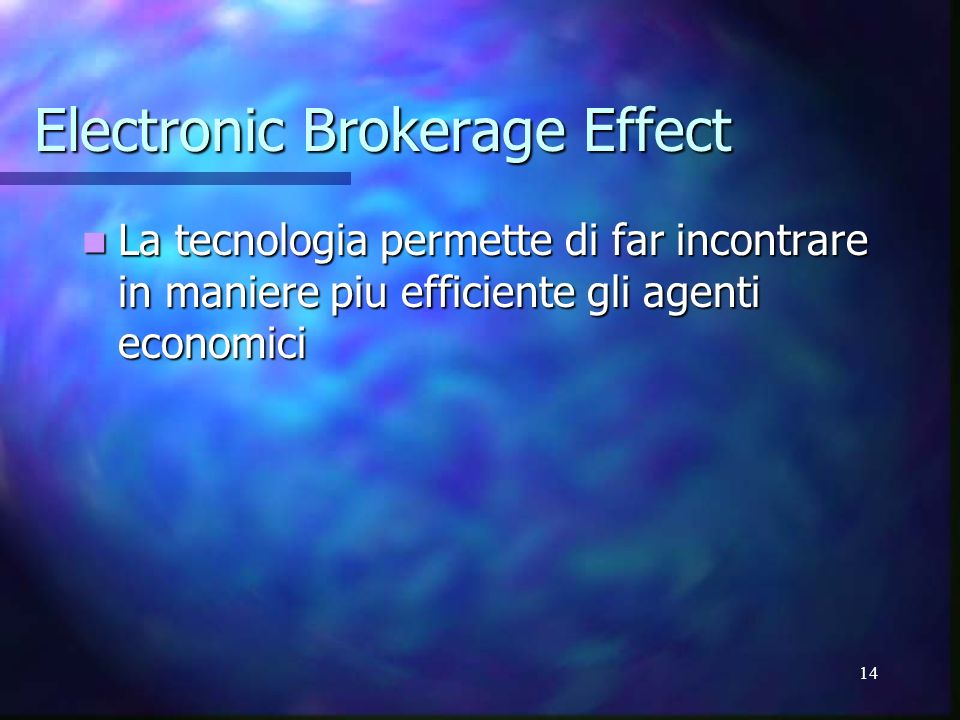 Electronic Brokerage Effect