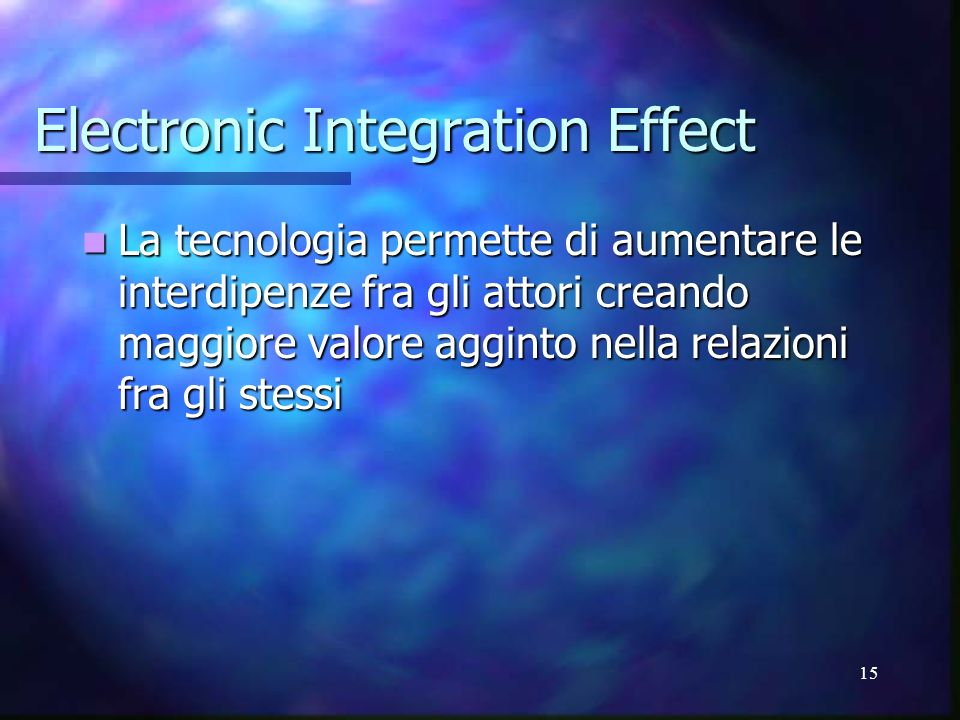 Electronic Integration Effect