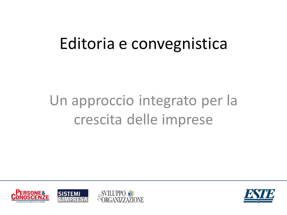 Editoria e convegnistica