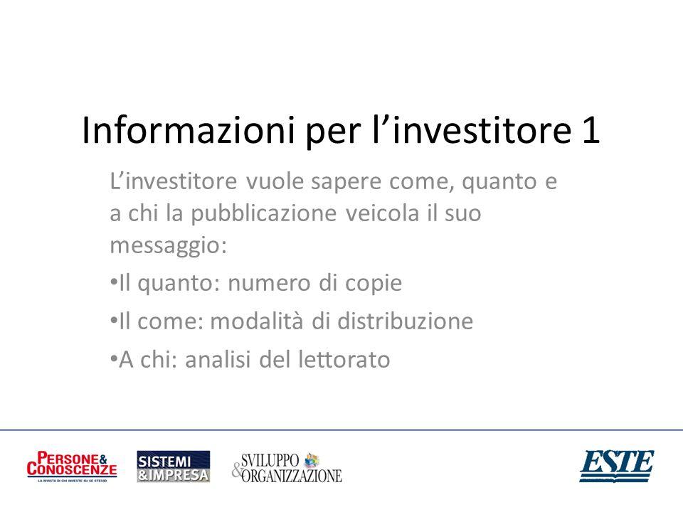 Informazioni per l'investitore 1