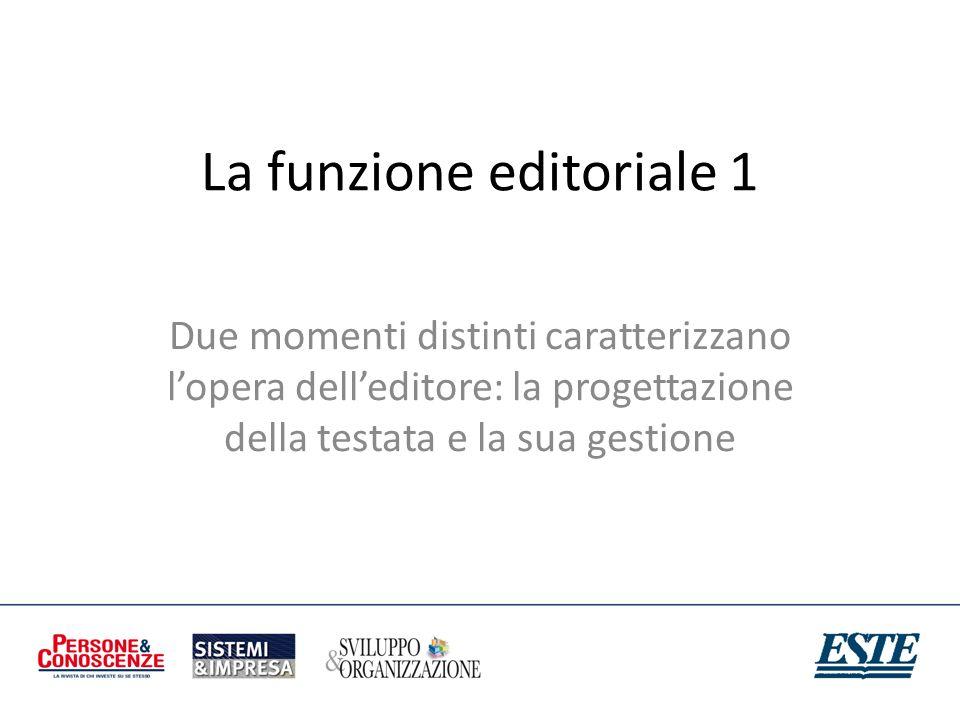 La funzione editoriale 1