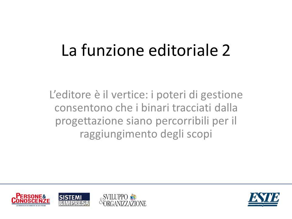 La funzione editoriale 2