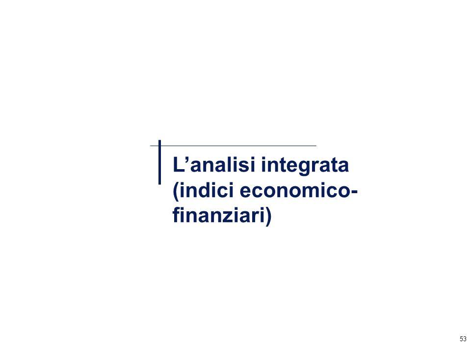 L'analisi integrata (indici economico-finanziari)