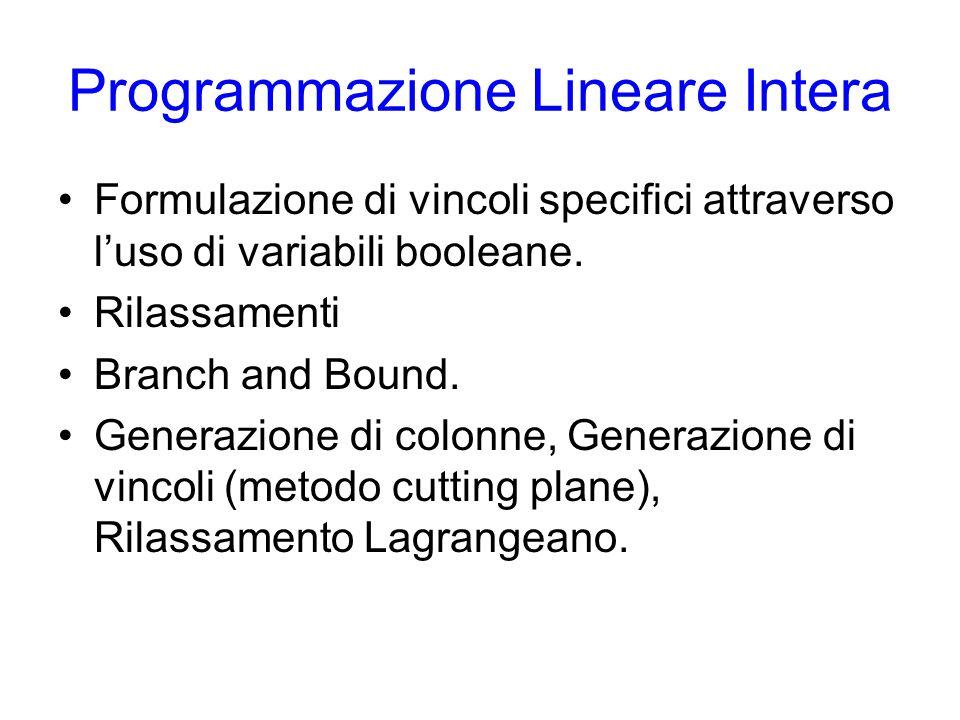 Programmazione Lineare Intera