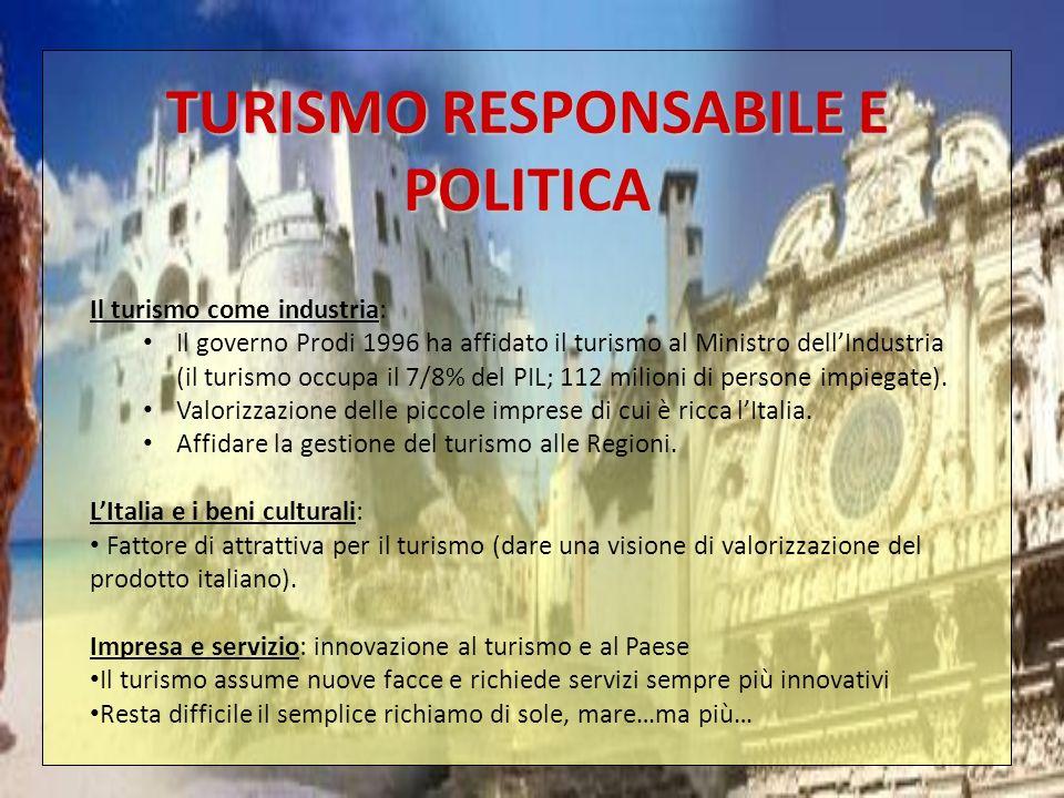 TURISMO RESPONSABILE E POLITICA