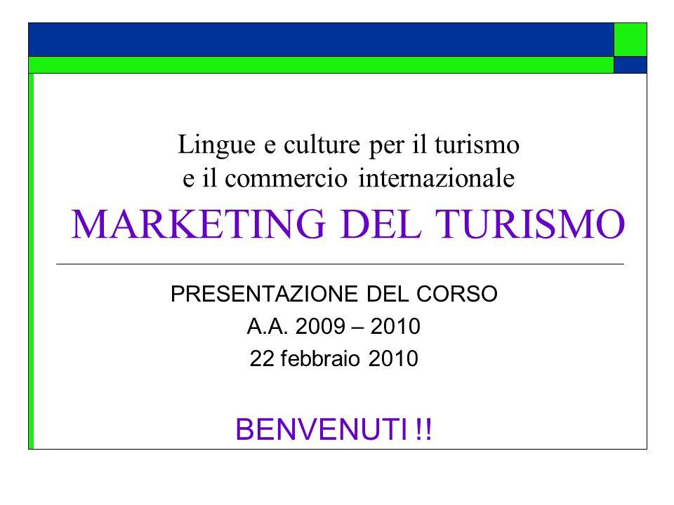 PRESENTAZIONE DEL CORSO A.A. 2009 – 2010 22 febbraio 2010 BENVENUTI !!