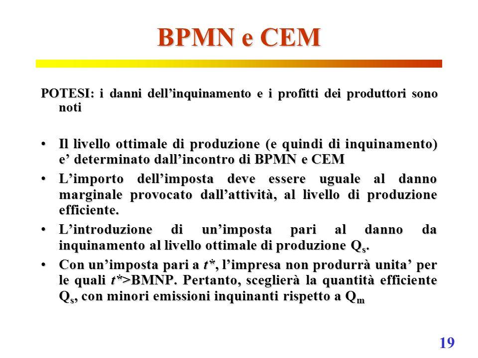 BPMN e CEM POTESI: i danni dell'inquinamento e i profitti dei produttori sono noti.