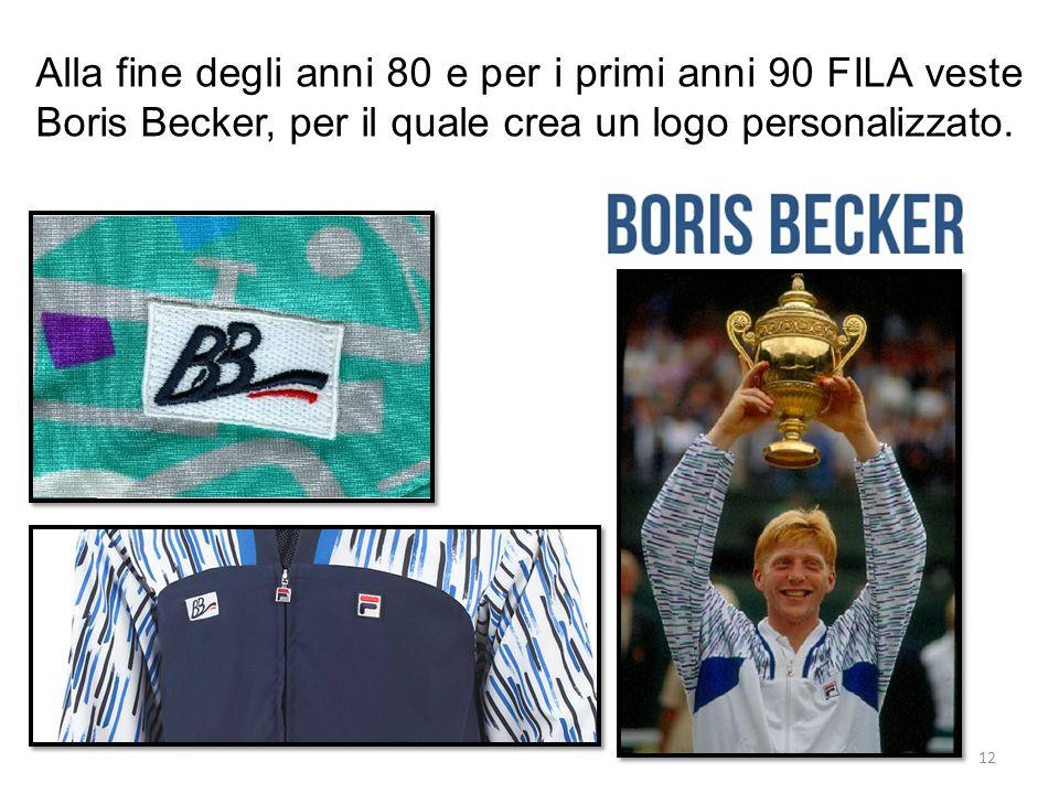 Alla fine degli anni 80 e per i primi anni 90 FILA veste Boris Becker, per il quale crea un logo personalizzato.
