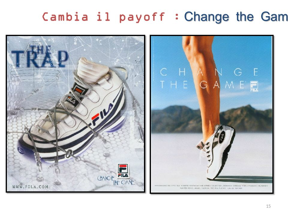 Cambia il payoff : Change the Game
