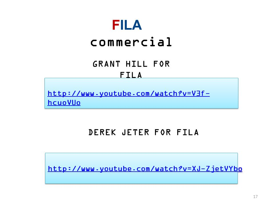 FILA commercial GRANT HILL FOR FILA DEREK JETER FOR FILA
