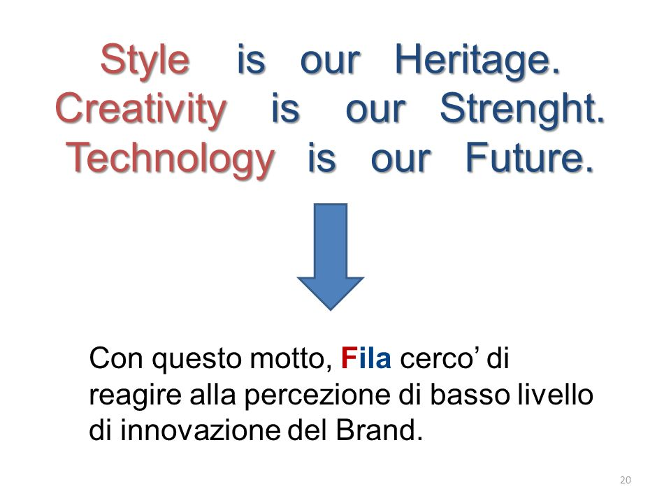 Creativity is our Strenght. Technology is our Future.