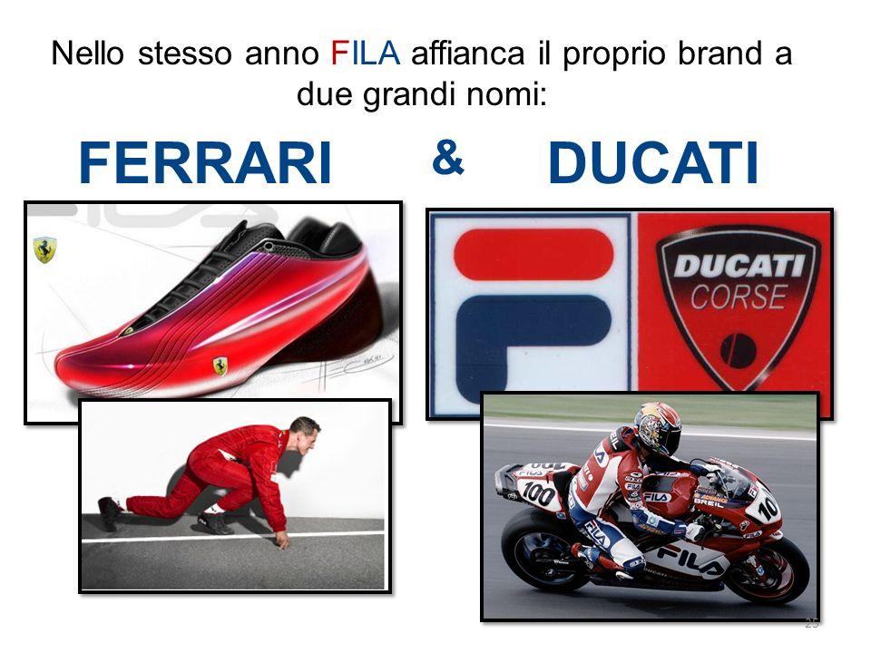 Nello stesso anno FILA affianca il proprio brand a due grandi nomi: