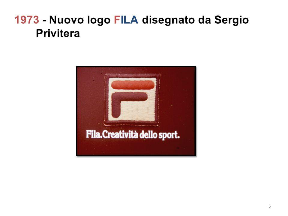 1973 - Nuovo logo FILA disegnato da Sergio