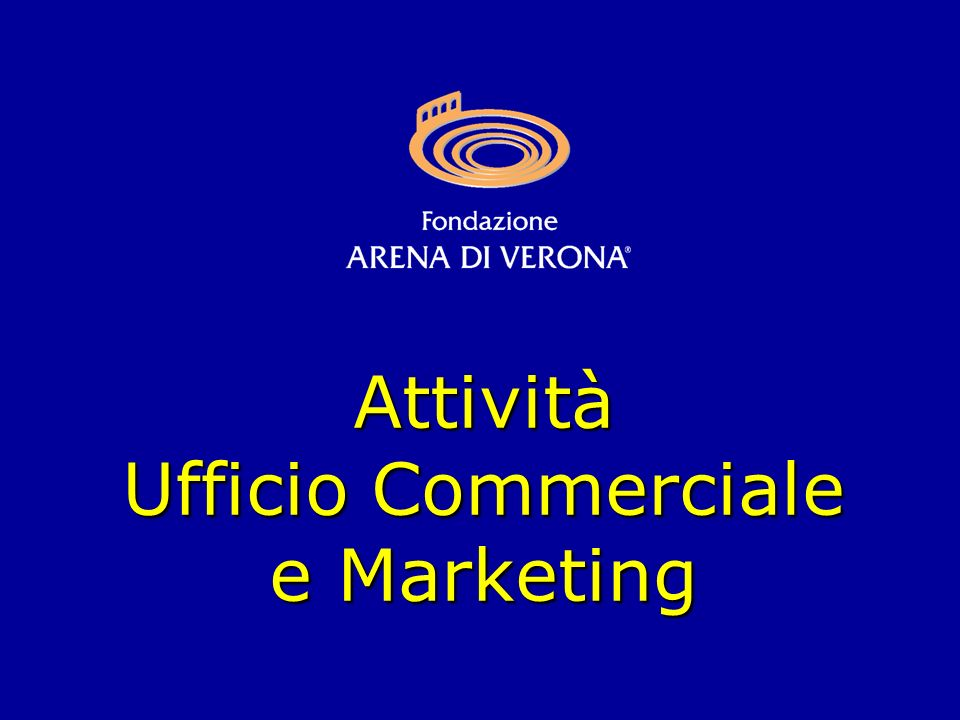 Attività Ufficio Commerciale e Marketing