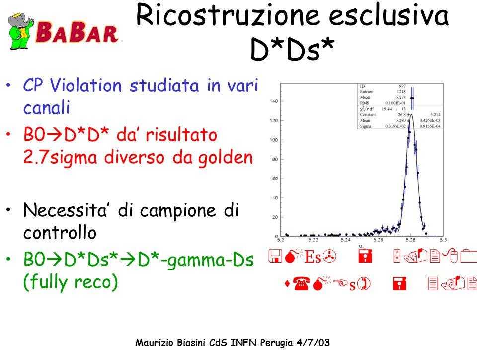 Ricostruzione esclusiva D*Ds*