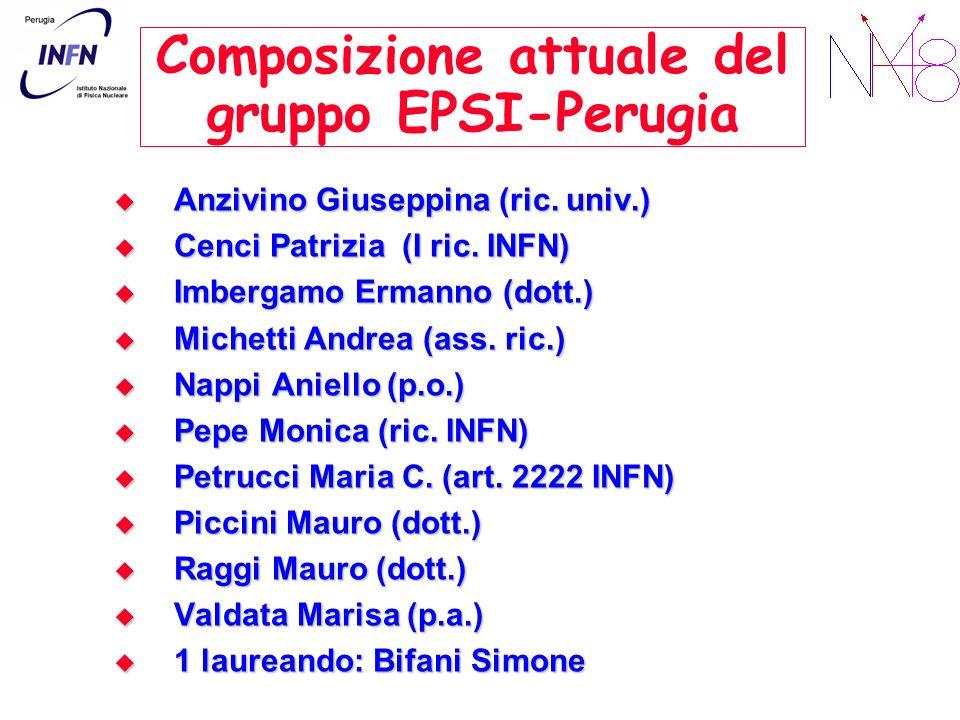 Composizione attuale del gruppo EPSI-Perugia