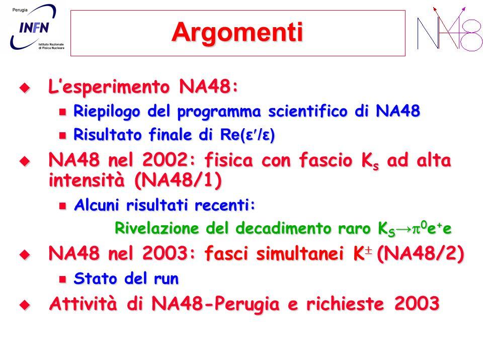 Argomenti L'esperimento NA48: