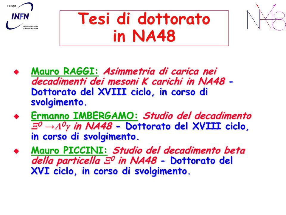Tesi di dottorato in NA48