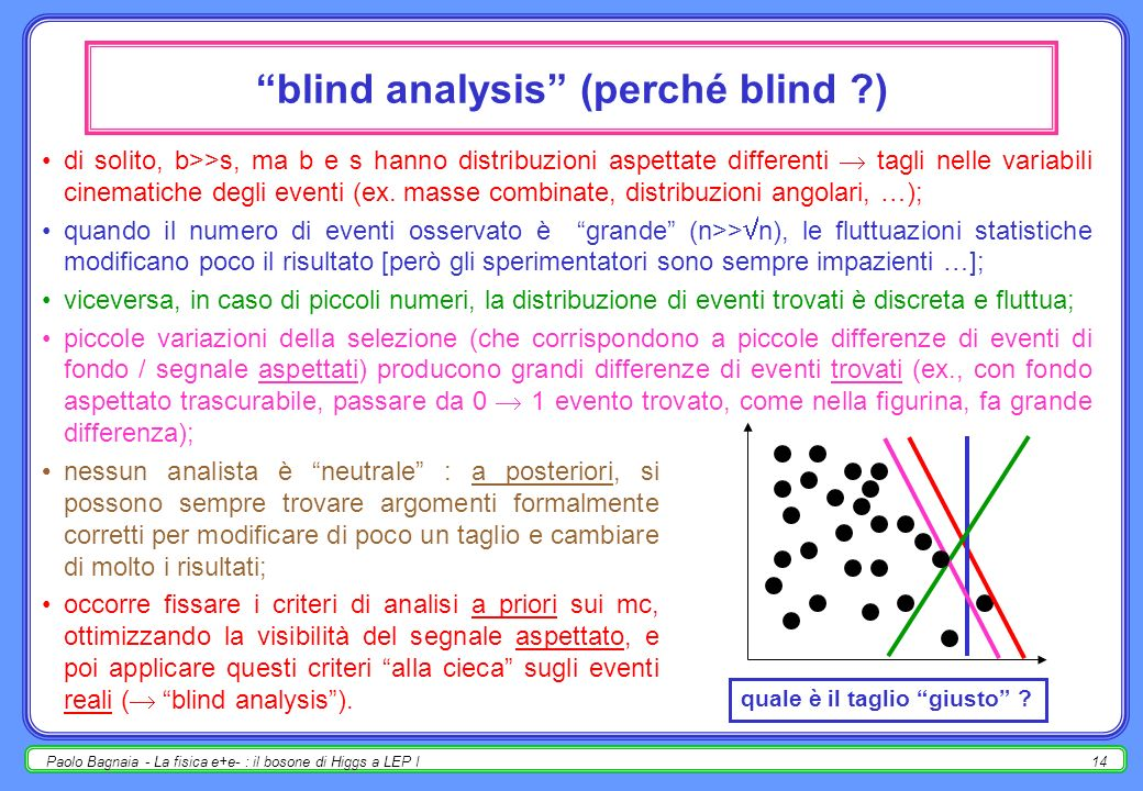 blind analysis (perché blind )