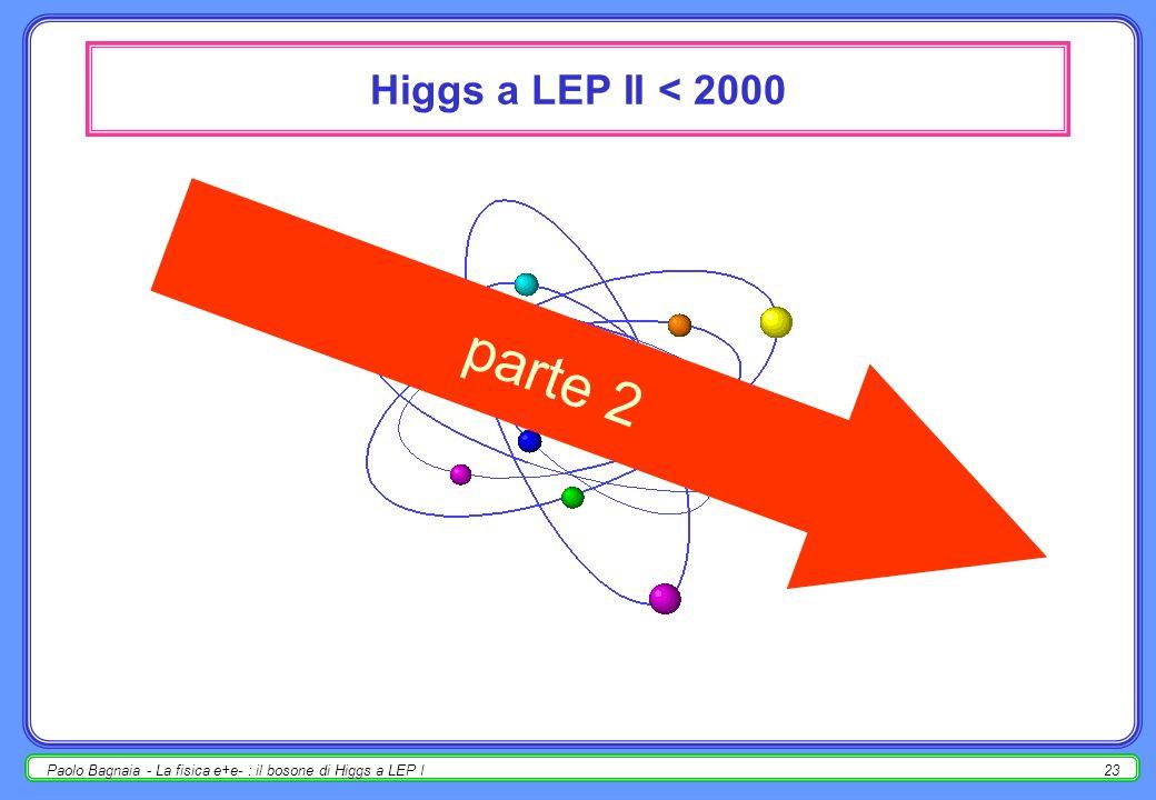 parte 2 Higgs a LEP II < 2000