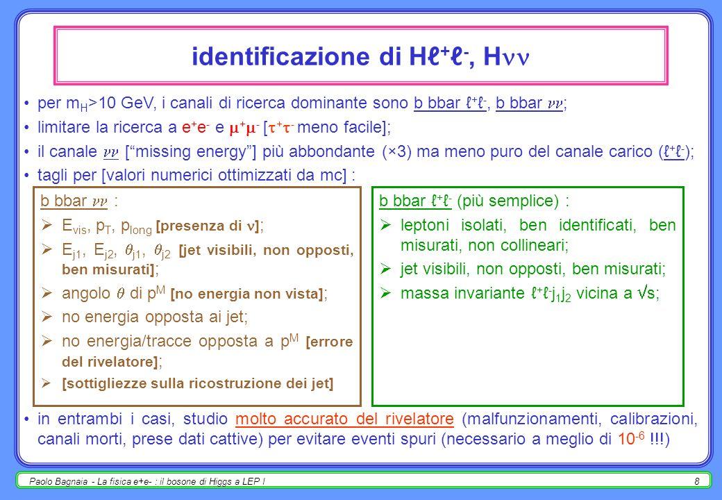 identificazione di Hℓ+ℓ-, H