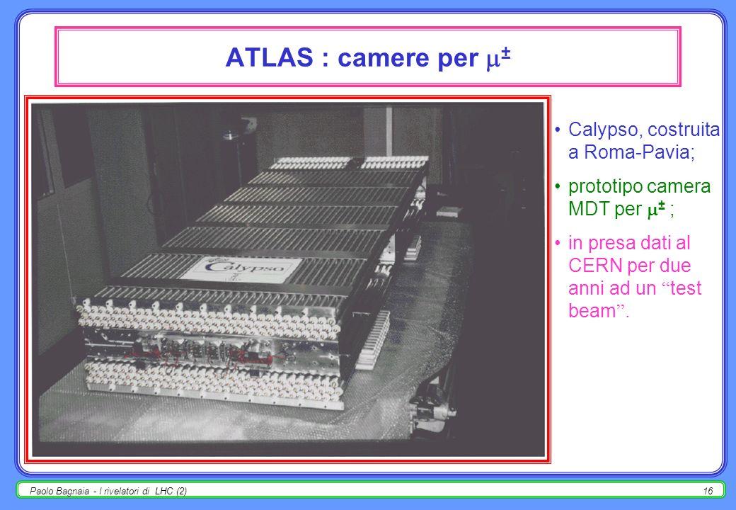 ATLAS : camere per ± Calypso, costruita a Roma-Pavia;