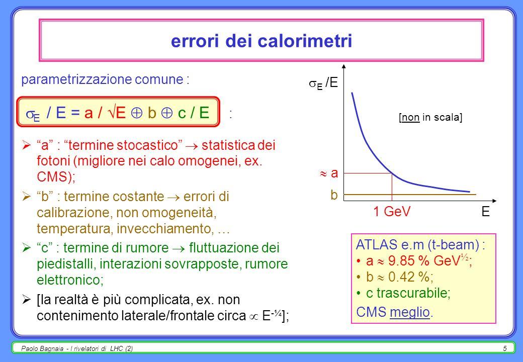 errori dei calorimetri